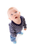 Boy looking up Royalty Free Stock Images