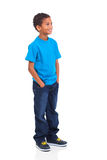 Boy looking up. Cute indian little boy looking up isolated over white background stock images