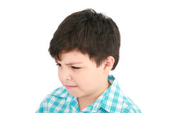 Boy looking at the viewer Royalty Free Stock Photos