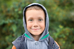 The boy looks at the camera Royalty Free Stock Images