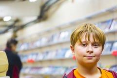 Boy looks critical but confident Stock Image