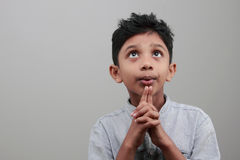A boy looks up Royalty Free Stock Photography