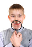 Boy with a Loupe Stock Photography