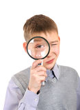 Boy with a Loupe Royalty Free Stock Photo