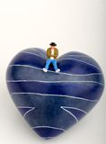 Boy in love miniature Royalty Free Stock Image