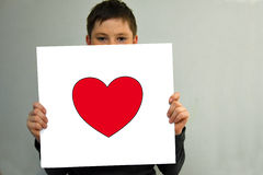 Boy in love Royalty Free Stock Photos