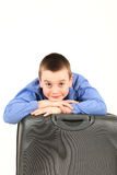 Boy with luggage Royalty Free Stock Image