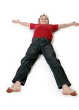 Boy lying down Royalty Free Stock Image