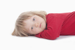 Boy lying down Stock Photography