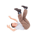 Boy lying on his back. Smiled boy lying on his back Royalty Free Stock Photography