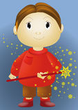 The boy with a magic wand Royalty Free Stock Photo