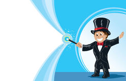 Boy magician Royalty Free Stock Image