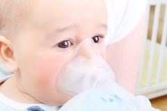 Boy makes inhalation Stock Photo
