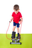 Boy makes sports Royalty Free Stock Images