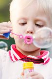 Boy making bubbles Royalty Free Stock Images
