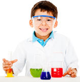Boy making experiments Stock Photography