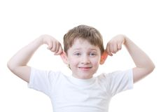 Boy Making Faces Royalty Free Stock Photo