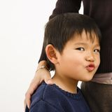Boy making funny face royalty free stock images