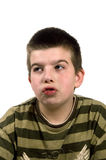 Boy is making funny face Stock Image