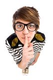 Boy Making Silence Gesture Royalty Free Stock Image