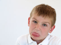 Boy making silly face Royalty Free Stock Photos