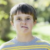 Boy Making Silly Face Stock Photos