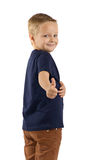 Boy making a thumbs up. Stock Image