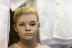 Boy mannequin in store Stock Image