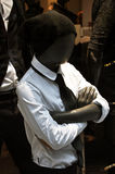 Boy mannequin in white shirt Stock Images