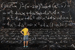 Boy and maths Stock Image