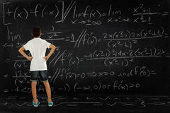 Boy and maths Royalty Free Stock Photos