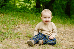 Boy on the meadow Stock Image