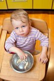 Boy with meal Royalty Free Stock Image