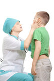 Boy at medical examination Royalty Free Stock Image