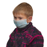 Boy in medicine healthcare mask Stock Image