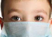 Boy in medicine mask Royalty Free Stock Photography