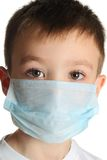 Boy in medicine mask Royalty Free Stock Photo