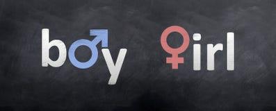 Boy meets Girl Symbols Stock Photography