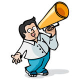 Boy and megaphone Stock Photography