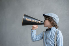 Boy with megaphone Stock Photography