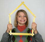 Boy with meter Stock Photography