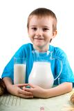 Boy with a milk Royalty Free Stock Photo