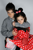 Boy and Minnie Mouse Stock Photography