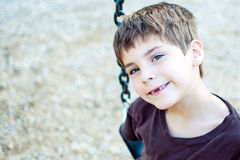 Boy with missing front teeth Royalty Free Stock Images