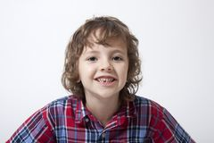 Boy with missing tooth Stock Photography