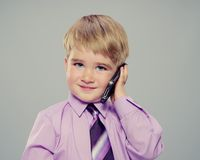 Boy with mobile phone Stock Photo