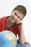 Boy with mobile phone  Royalty Free Stock Photography