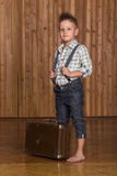 Boy model in the studio Stock Images