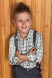Boy model in the studio Royalty Free Stock Image