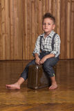 Boy model in the studio Royalty Free Stock Photos